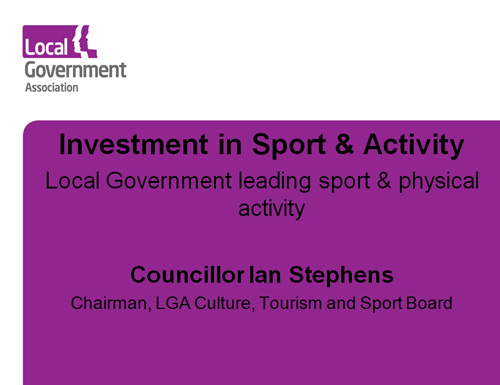Cllr Stephens Investment in sports 2016