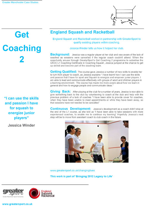 English Coach and Racketball Coaching 2